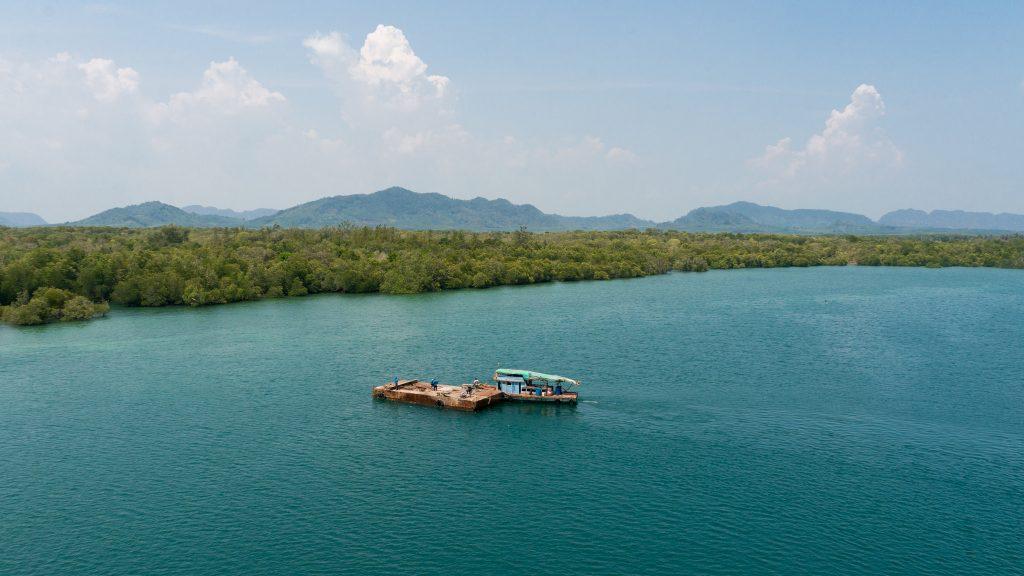 Blick auf Koh Lanta Noi von der neu gebauten Brücke