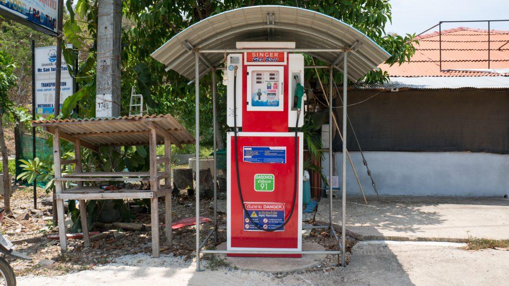 Tankstelle auf Koh lanta