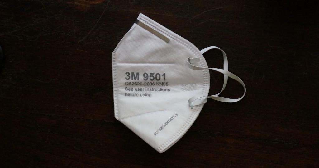 Effektive 3M N95 Atemschutzmaske zur Filterung von Feinstaub aus der Apotheke (35 Baht) in Chiang Mai