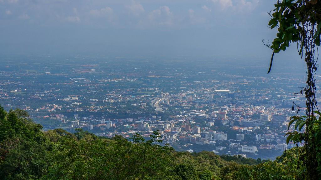 Blick vom Doi Suthep auf Chiang Mai