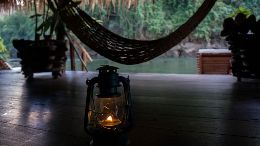 Petroleum-Lampe statt Elektrizität