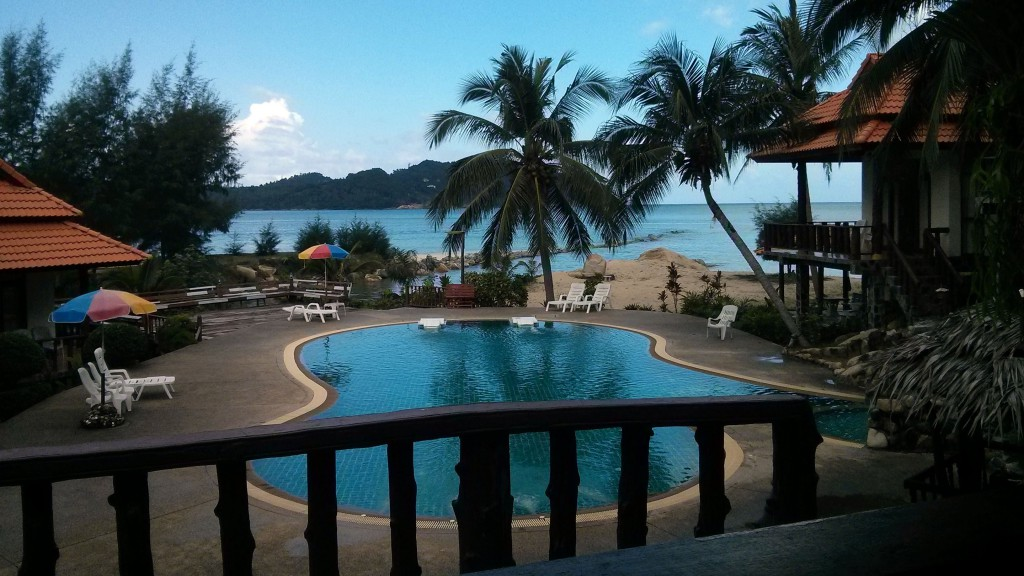 Unser Hotel am Chaloklum Beach auf Ko Phangan