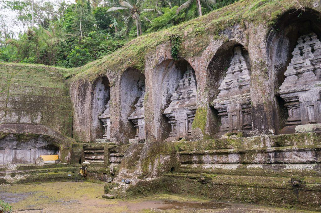 Die fünf östlichen Schreine des Pura Gunung Kawi