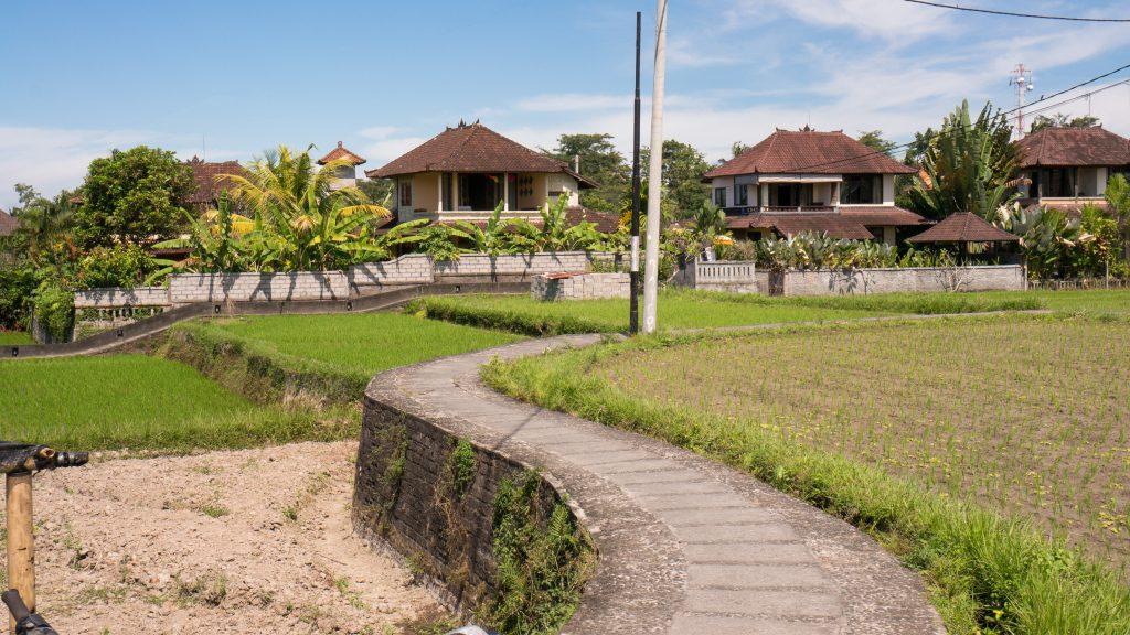 Einziger Zufahrtsweg zu unserer Villa