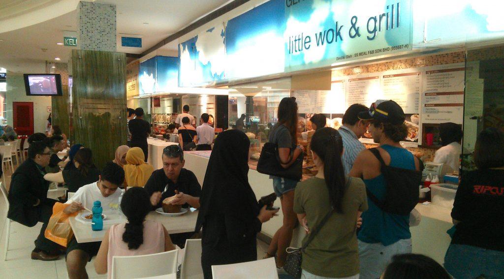 Der Food Court in der Suria Mall neben den Petronas Türmen