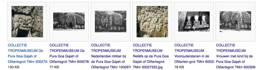 Ausschnitt der Wikimedia Commons Seite der Goa Gajah Höhle