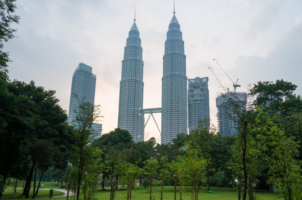 Das Wahrzeichen der Stadt: die Petronas Twin Towers