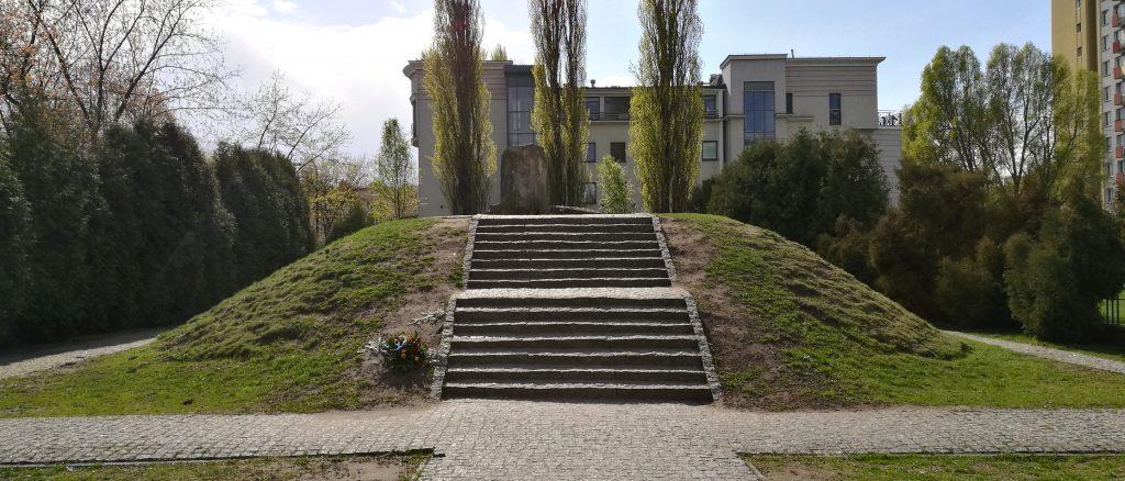 Erinnerung an das Hauptquartier Miła 18 der Jüdischen Kampforganisation.