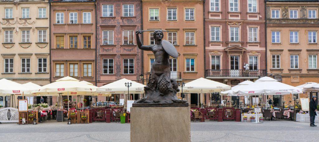 Die Meerjungfrau auf dem Warschauer Marktplatz