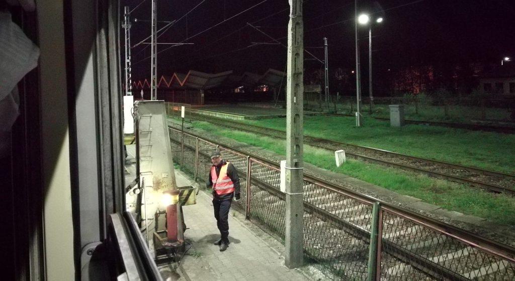 Umspurung vor der ukrainischen Grenze um 2 Uhr morgens