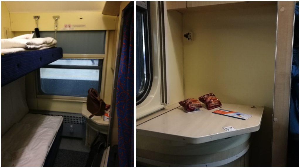 Unsere Kabine im Nachtzug von Warschau nach Lemberg