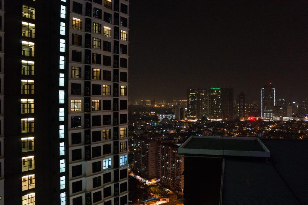 Blick über das nächtliche Kuala Lumpur