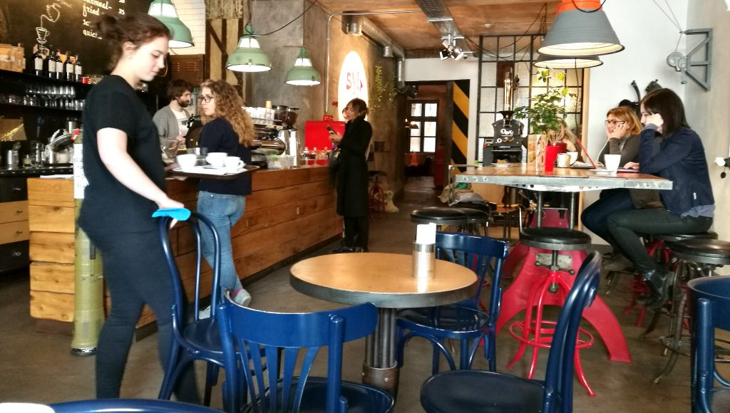 Das 'Svit Kavy na Rynku' Café in Lemberg