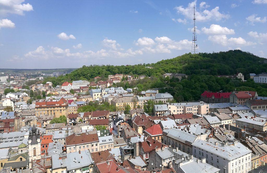 Blick vom Rathausturm auf das High Castle