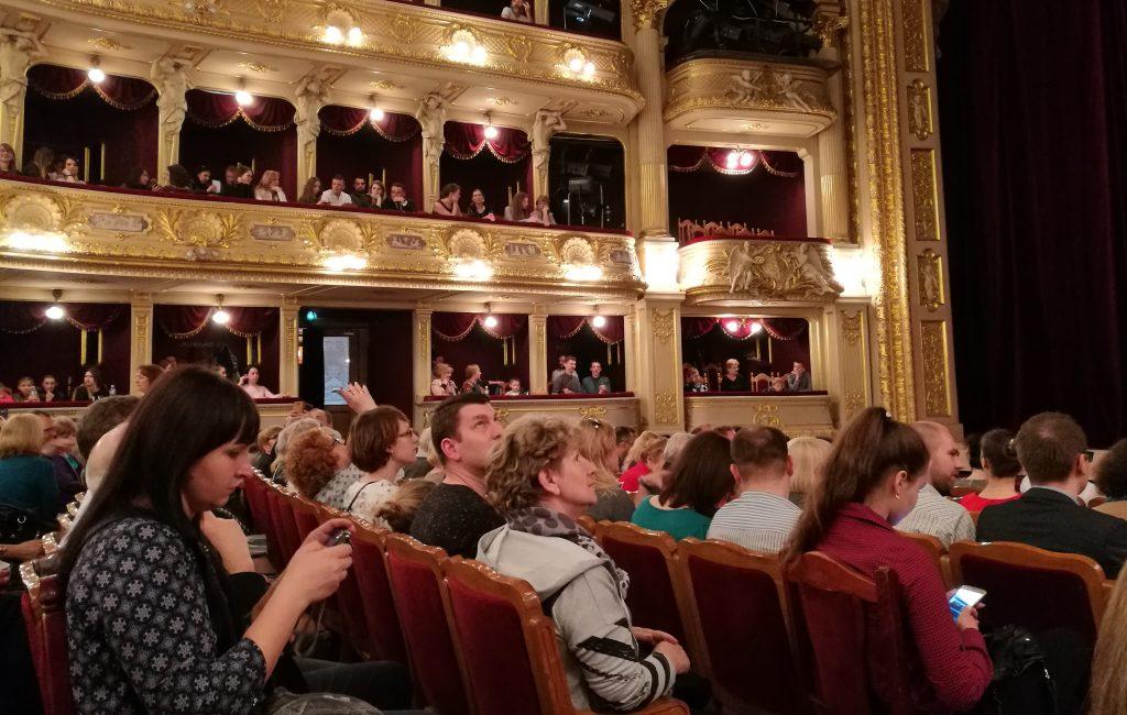 Der Zuschauersaal des Lemberger Opernhauses