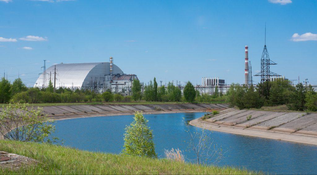 Das Kraftwerk aus einiger Entfernung